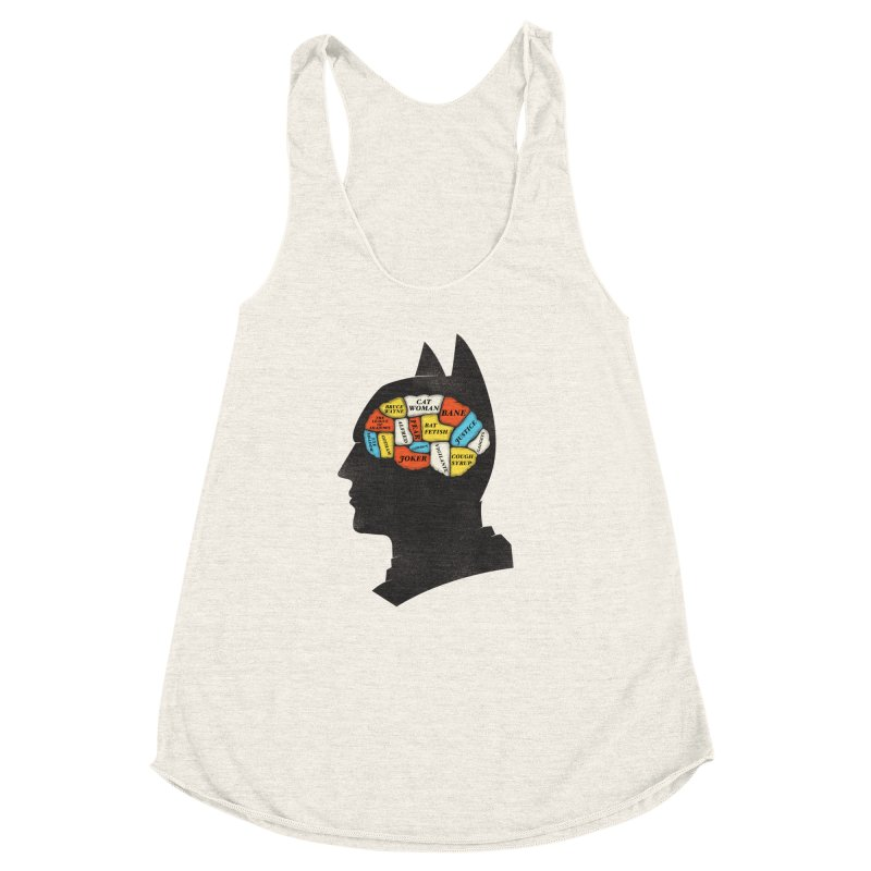 Batman Phrenology Women's Racerback Triblend Tank by wharton's Artist Shop