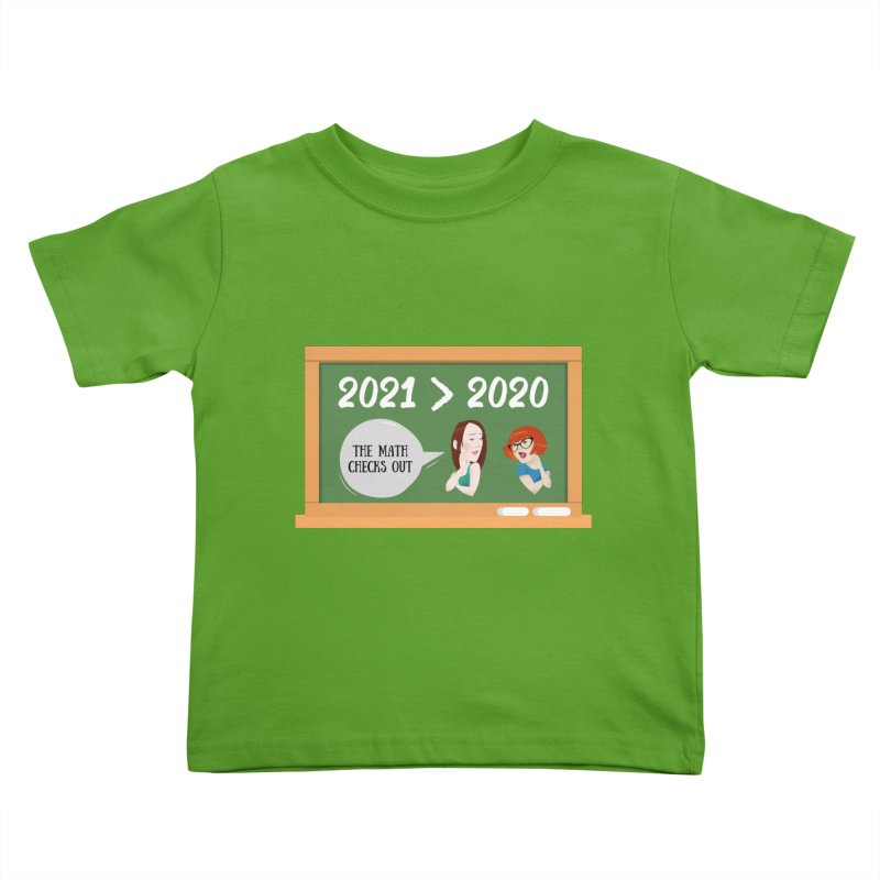 The math checks out Kids Toddler T-Shirt by What a Creep Podcast Swag Shop