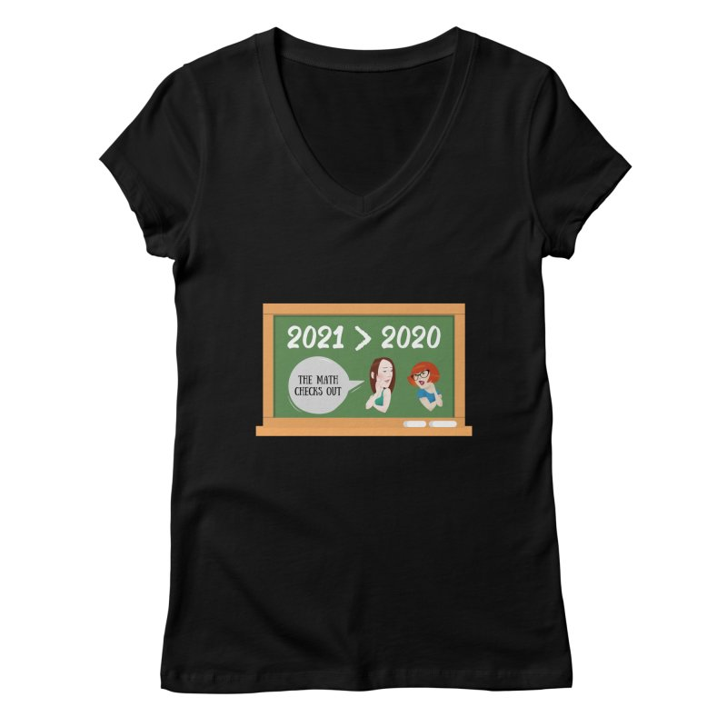 The math checks out Women's V-Neck by What a Creep Podcast Swag Shop