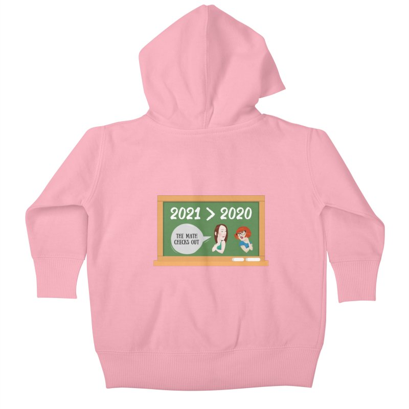The math checks out Kids Baby Zip-Up Hoody by What a Creep Podcast Swag Shop