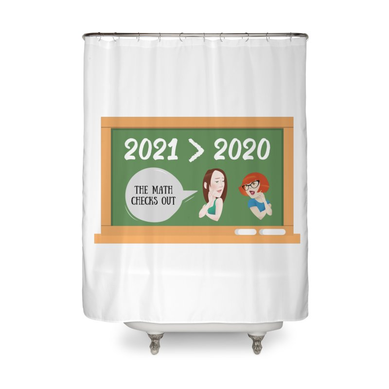 The math checks out Home Shower Curtain by What a Creep Podcast Swag Shop