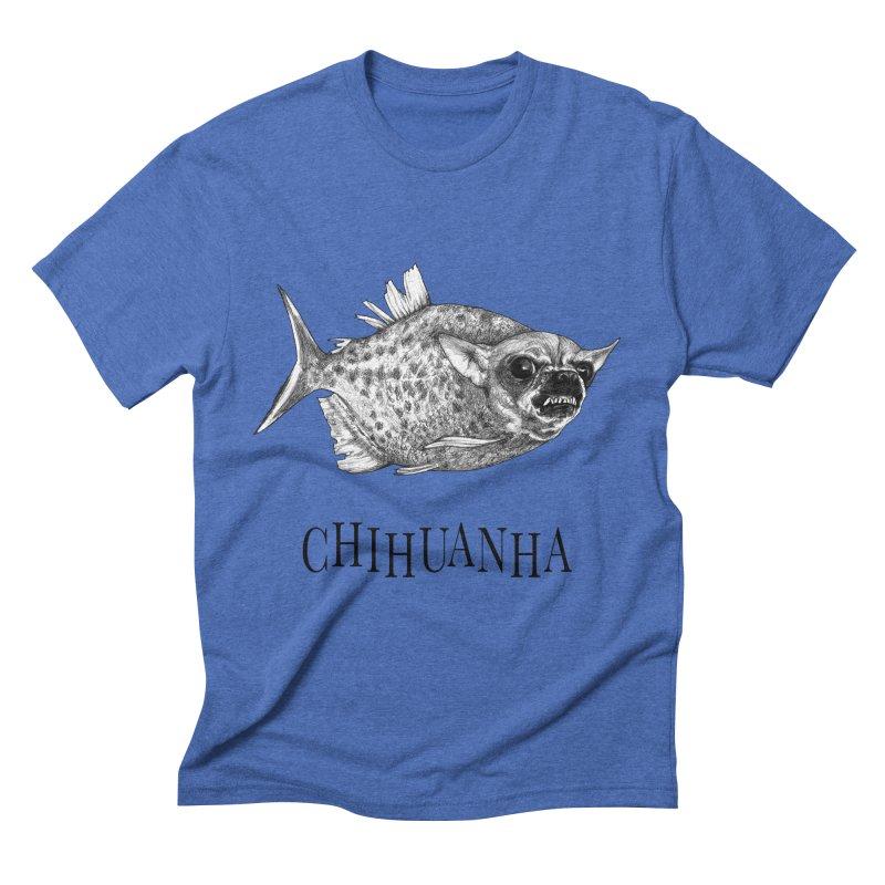 Chihuanha | Chihuahua + Piranha Hybrid Animal Men's T-Shirt by Whatif Creations | Shop Hybrid Animals!