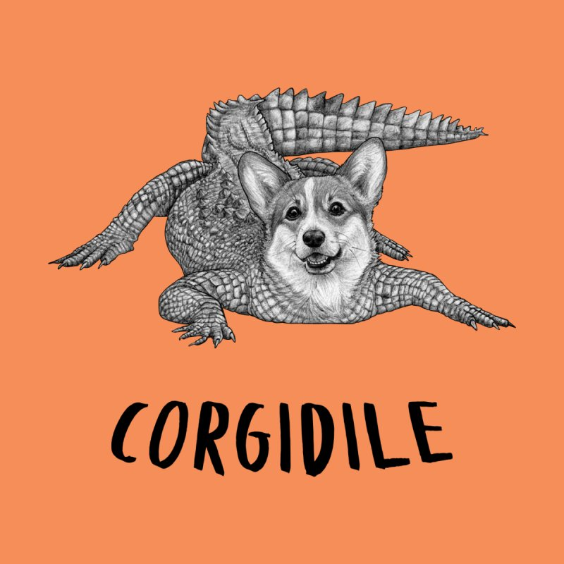 Corgidile | Corgi + Crocodile Hybrid Animal Men's Pullover Hoody by Whatif Creations | Shop Hybrid Animals!