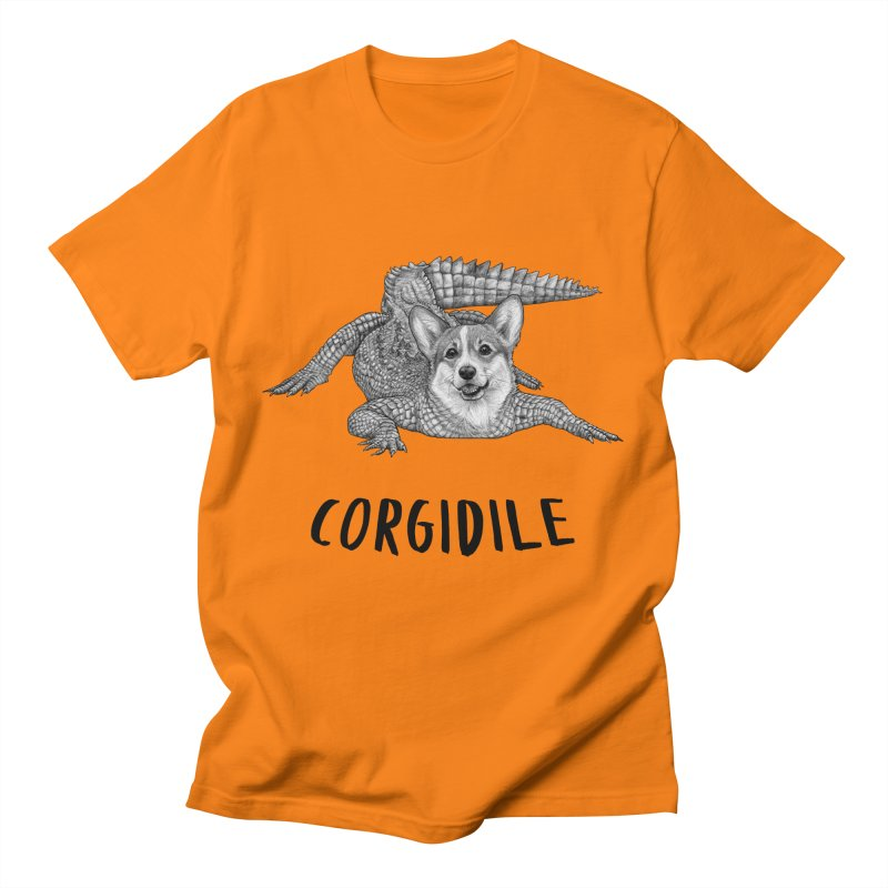 Corgidile   Corgi + Crocodile Hybrid Animal Men's T-Shirt by Whatif Creations   Shop Hybrid Animals!