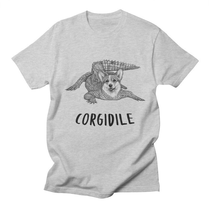 Corgidile | Corgi + Crocodile Hybrid Animal Men's T-Shirt by Whatif Creations | Shop Hybrid Animals!