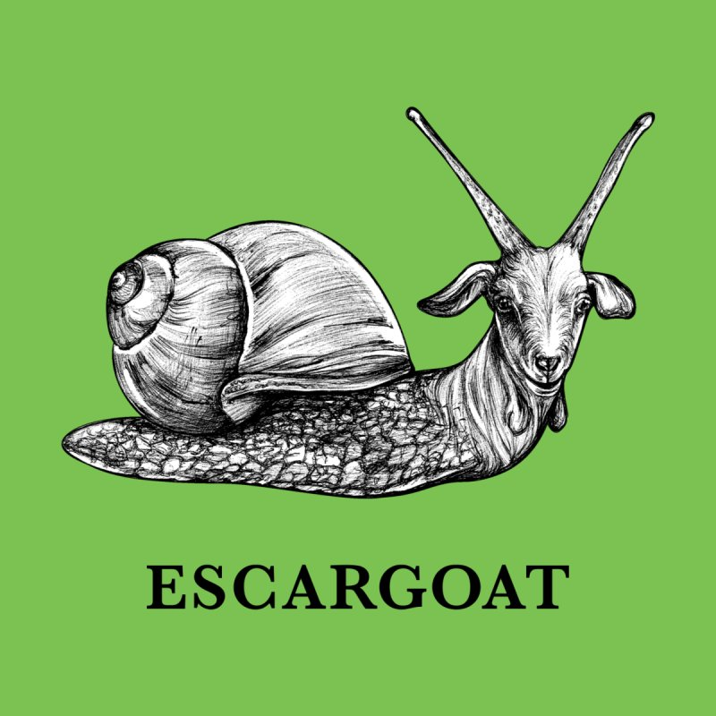 Escargoat | Snail + Goat Hybrid Animal Kids T-Shirt by Whatif Creations | Shop Hybrid Animals!