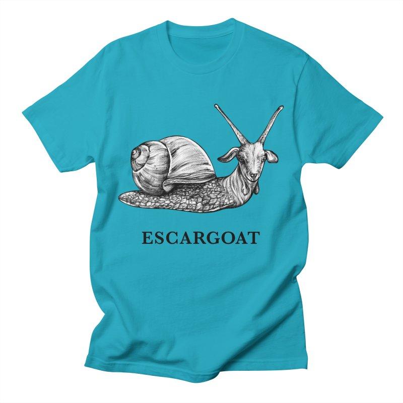 Escargoat | Snail + Goat Hybrid Animal Men's T-Shirt by Whatif Creations | Shop Hybrid Animals!