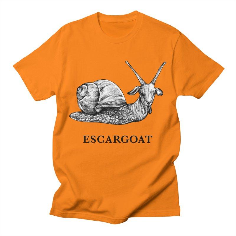 Escargoat   Snail + Goat Hybrid Animal Men's T-Shirt by Whatif Creations   Shop Hybrid Animals!