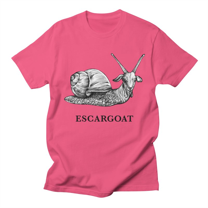 Escargoat | Snail + Goat Hybrid Animal Men's T-Shirt by Whatif Creations | Shop Hybrid Animals!