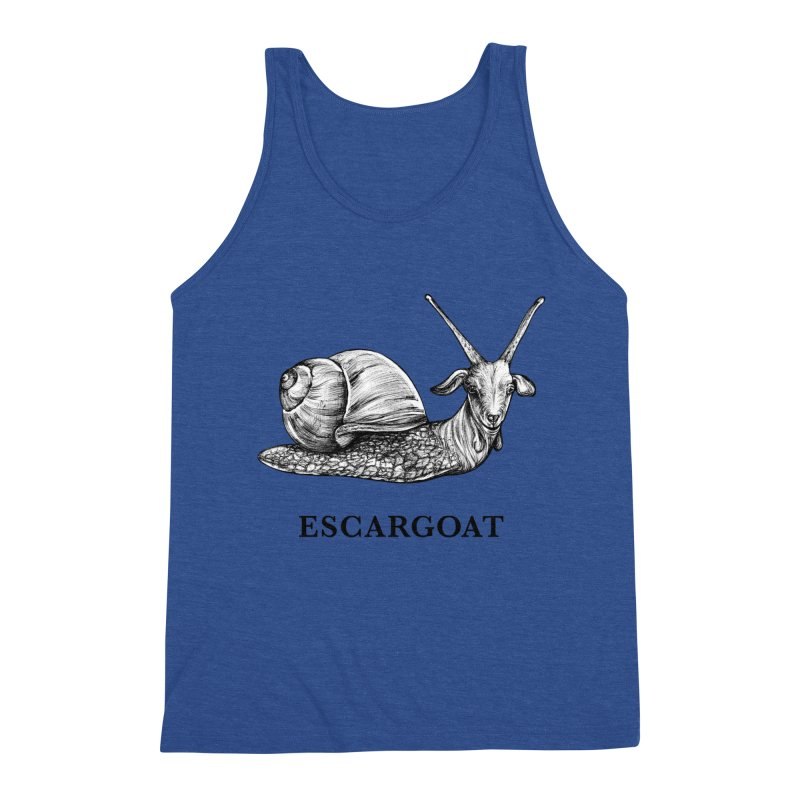 Escargoat | Snail + Goat Hybrid Animal Men's Tank by Whatif Creations | Shop Hybrid Animals!