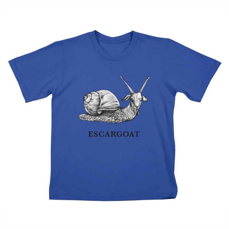 Escargoat   Snail + Goat Hybrid Animal Kids T-Shirt by Whatif Creations   Shop Hybrid Animals!