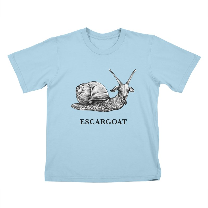 Escargoat | Snail + Goat Hybrid Animal Kids T-Shirt by Whatif Creations | Shop Hybrid Animals!
