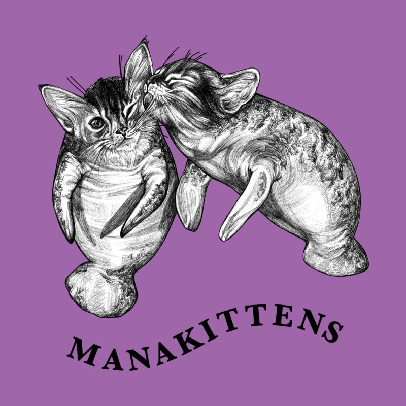 Manakittens | Manatee + Kittens Hybrid Animal Women's T-Shirt by Whatif Creations | Shop Hybrid Animals!