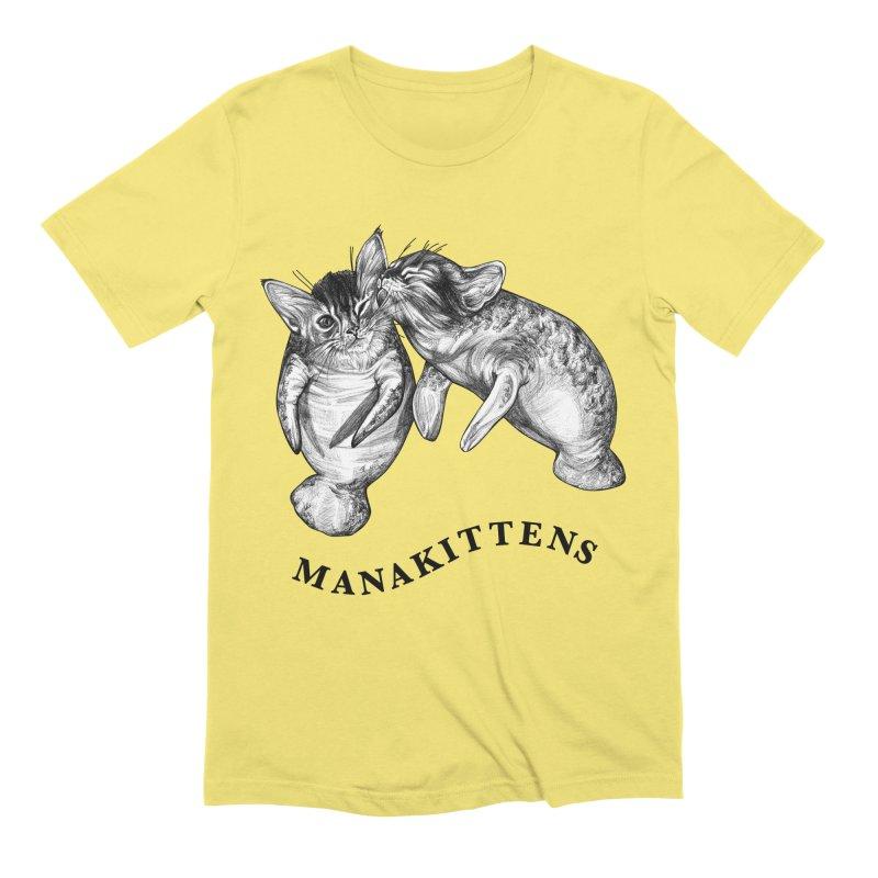 Manakittens   Manatee + Kittens Hybrid Animal Men's T-Shirt by Whatif Creations   Shop Hybrid Animals!
