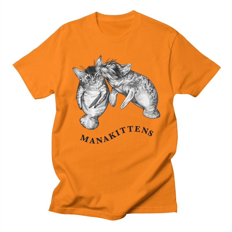 Manakittens | Manatee + Kittens Hybrid Animal Men's T-Shirt by Whatif Creations | Shop Hybrid Animals!