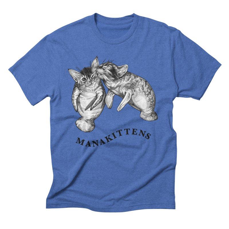 Manakittens | Manatee + Kittens Hybrid Animal Men's T-Shirt by Whatif Creations | Shop Hybrid Animals!