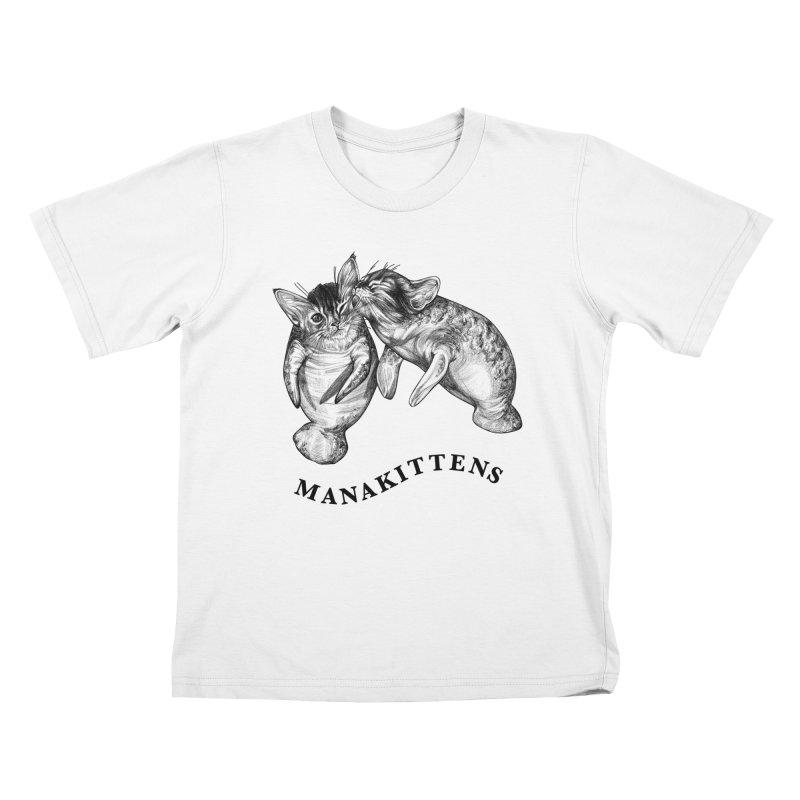 Manakittens | Manatee + Kittens Hybrid Animal Kids T-Shirt by Whatif Creations | Shop Hybrid Animals!