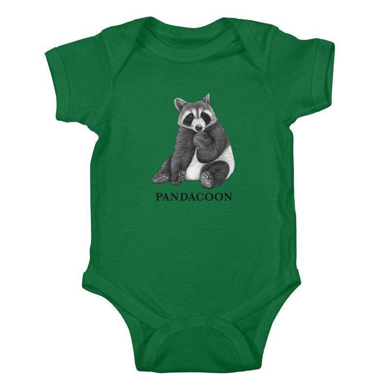 Pandacoon | Panda + Raccoon Hybrid Animal Kids Baby Bodysuit by Whatif Creations | Shop Hybrid Animals!