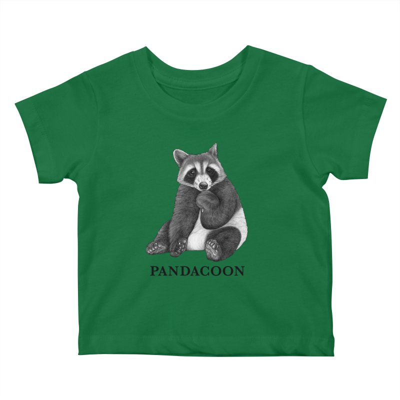 Pandacoon   Panda + Raccoon Hybrid Animal Kids Baby T-Shirt by Whatif Creations   Shop Hybrid Animals!