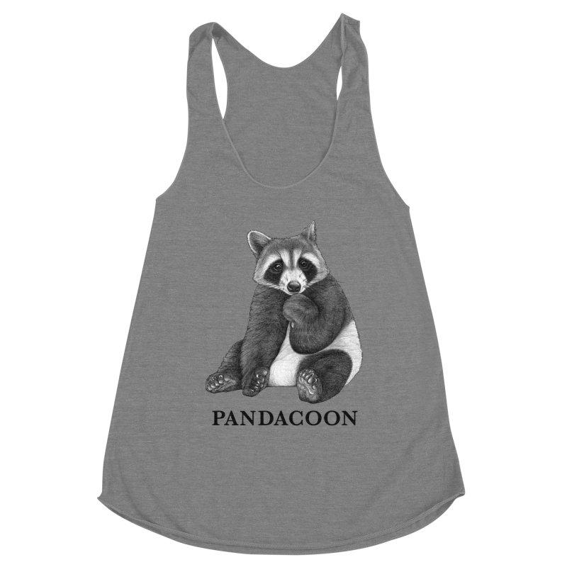Pandacoon | Panda + Raccoon Hybrid Animal Women's Tank by Whatif Creations | Shop Hybrid Animals!