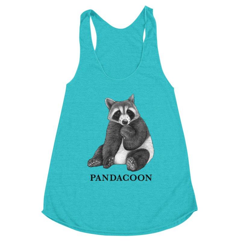 Pandacoon   Panda + Raccoon Hybrid Animal Women's Tank by Whatif Creations   Shop Hybrid Animals!