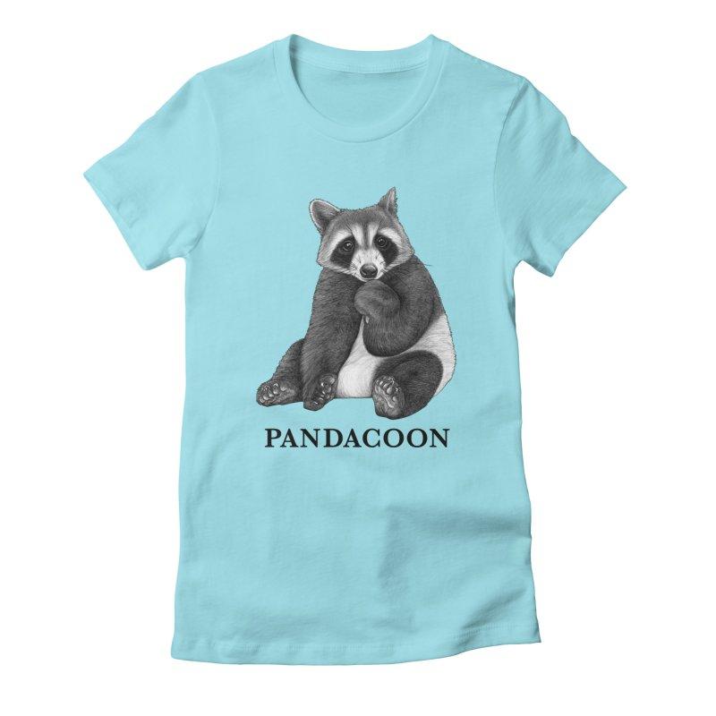 Pandacoon   Panda + Raccoon Hybrid Animal Women's T-Shirt by Whatif Creations   Shop Hybrid Animals!