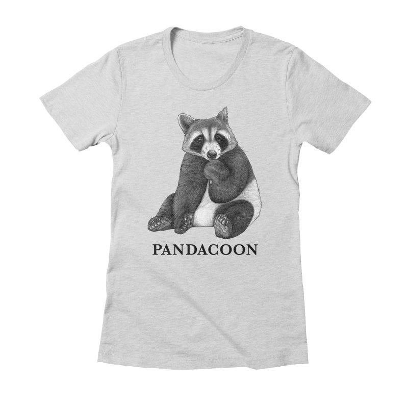 Pandacoon | Panda + Raccoon Hybrid Animal Women's T-Shirt by Whatif Creations | Shop Hybrid Animals!