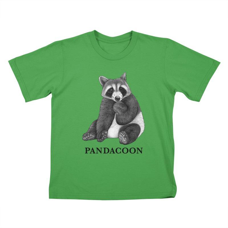 Pandacoon | Panda + Raccoon Hybrid Animal Kids T-Shirt by Whatif Creations | Shop Hybrid Animals!