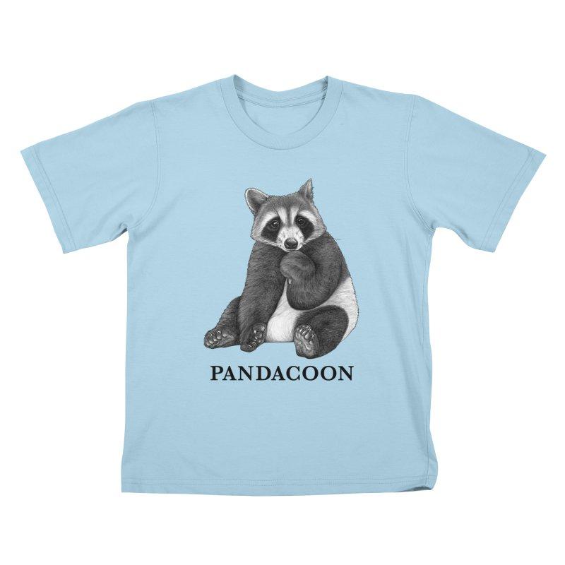 Pandacoon   Panda + Raccoon Hybrid Animal Kids T-Shirt by Whatif Creations   Shop Hybrid Animals!