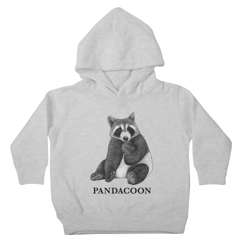 Pandacoon | Panda + Raccoon Hybrid Animal Kids Toddler Pullover Hoody by Whatif Creations | Shop Hybrid Animals!
