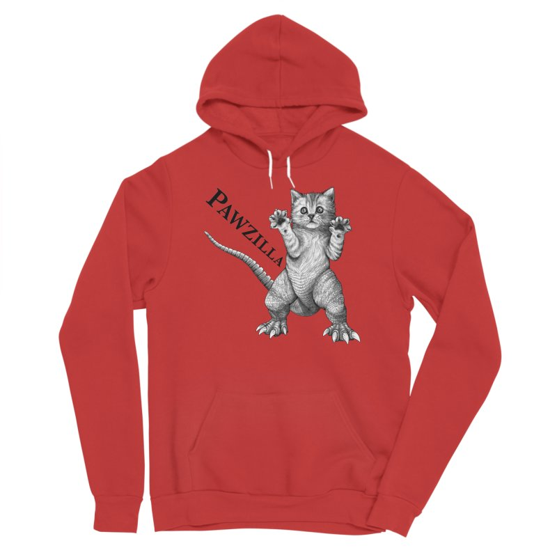 Pawzilla | Cat + Godzilla Hybrid Animal Women's Pullover Hoody by Whatif Creations | Shop Hybrid Animals!