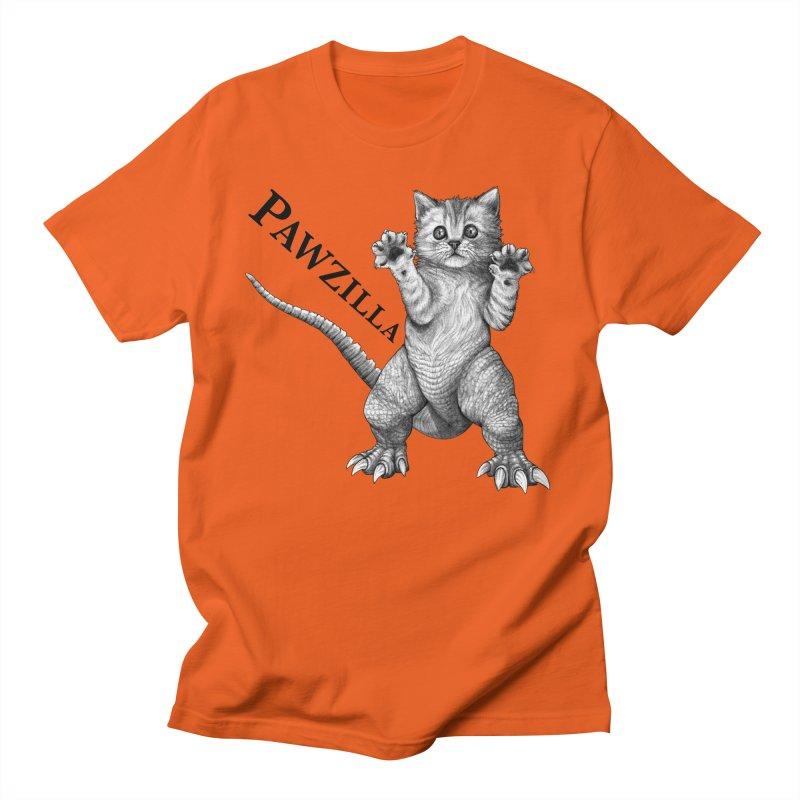 Pawzilla   Cat + Godzilla Hybrid Animal Men's T-Shirt by Whatif Creations   Shop Hybrid Animals!