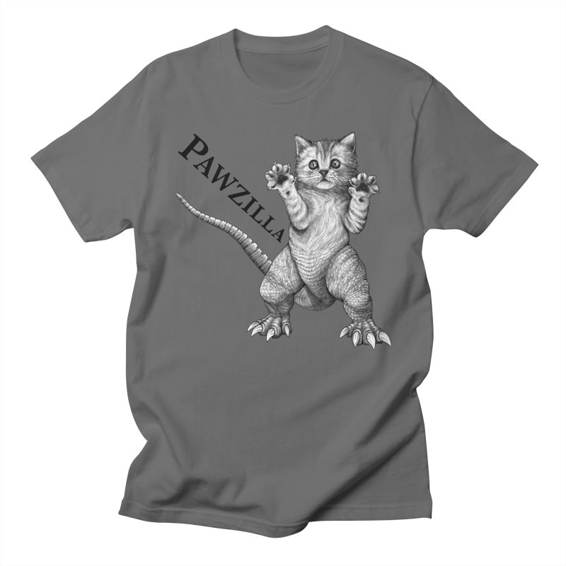 Pawzilla | Cat + Godzilla Hybrid Animal Men's T-Shirt by Whatif Creations | Shop Hybrid Animals!