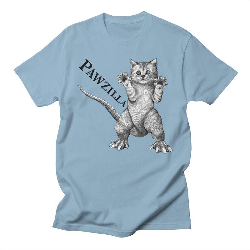 Pawzilla | Cat + Godzilla Hybrid Animal Men's T-Shirt by Whatif Creations | Shop Hybrid Animals!