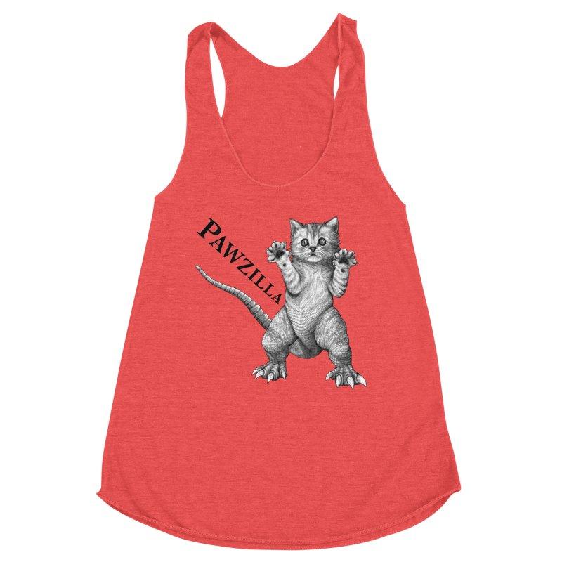 Pawzilla | Cat + Godzilla Hybrid Animal Women's Tank by Whatif Creations | Shop Hybrid Animals!