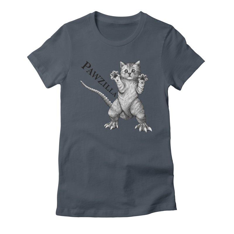 Pawzilla | Cat + Godzilla Hybrid Animal Women's T-Shirt by Whatif Creations | Shop Hybrid Animals!