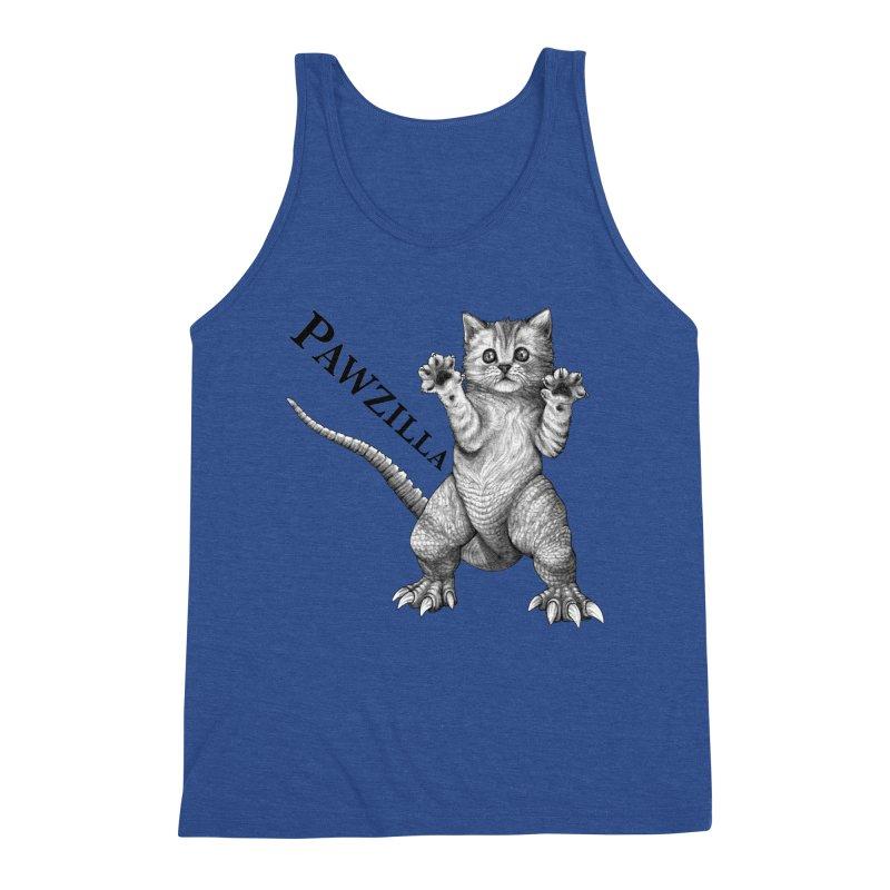 Pawzilla | Cat + Godzilla Hybrid Animal Men's Tank by Whatif Creations | Shop Hybrid Animals!