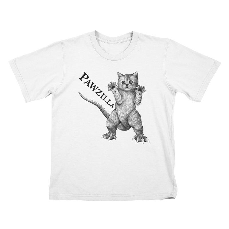 Pawzilla | Cat + Godzilla Hybrid Animal Kids T-Shirt by Whatif Creations | Shop Hybrid Animals!