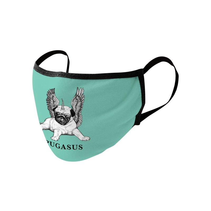 Pugasus | Pug + Pegasus Hybrid Animal Accessories Face Mask by Whatif Creations | Shop Hybrid Animals!
