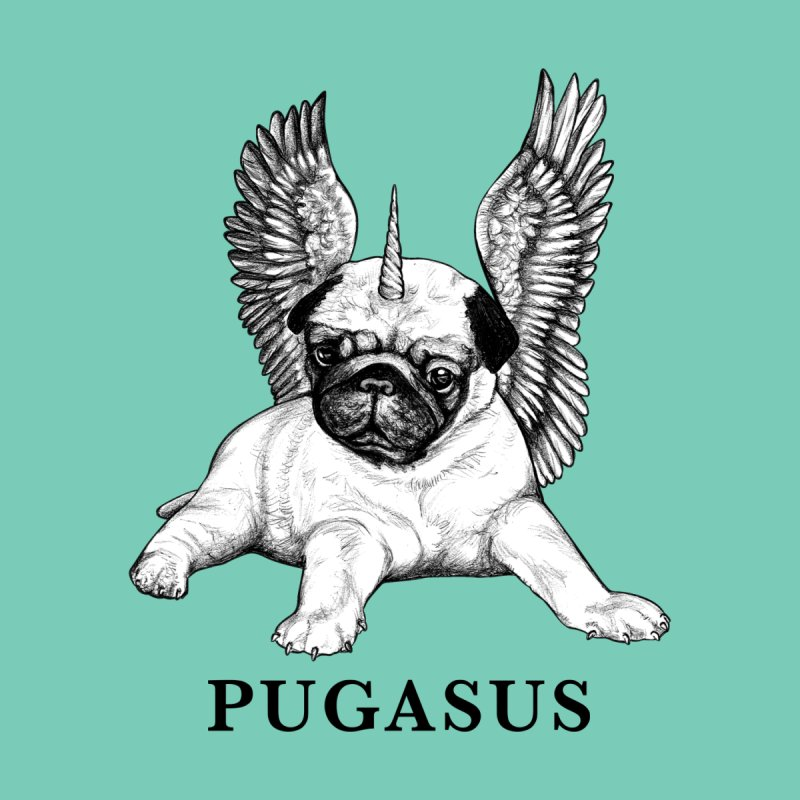 Pugasus | Pug + Pegasus Hybrid Animal Accessories Face Mask by Whatif Creations | Shop Hybrid Animals!
