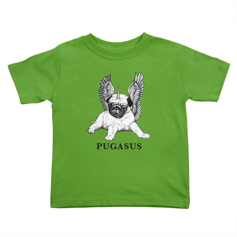 Pugasus | Pug + Pegasus Hybrid Animal Kids Toddler T-Shirt by Whatif Creations | Shop Hybrid Animals!