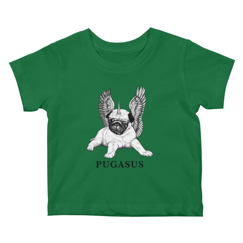 Pugasus | Pug + Pegasus Hybrid Animal Kids Baby T-Shirt by Whatif Creations | Shop Hybrid Animals!