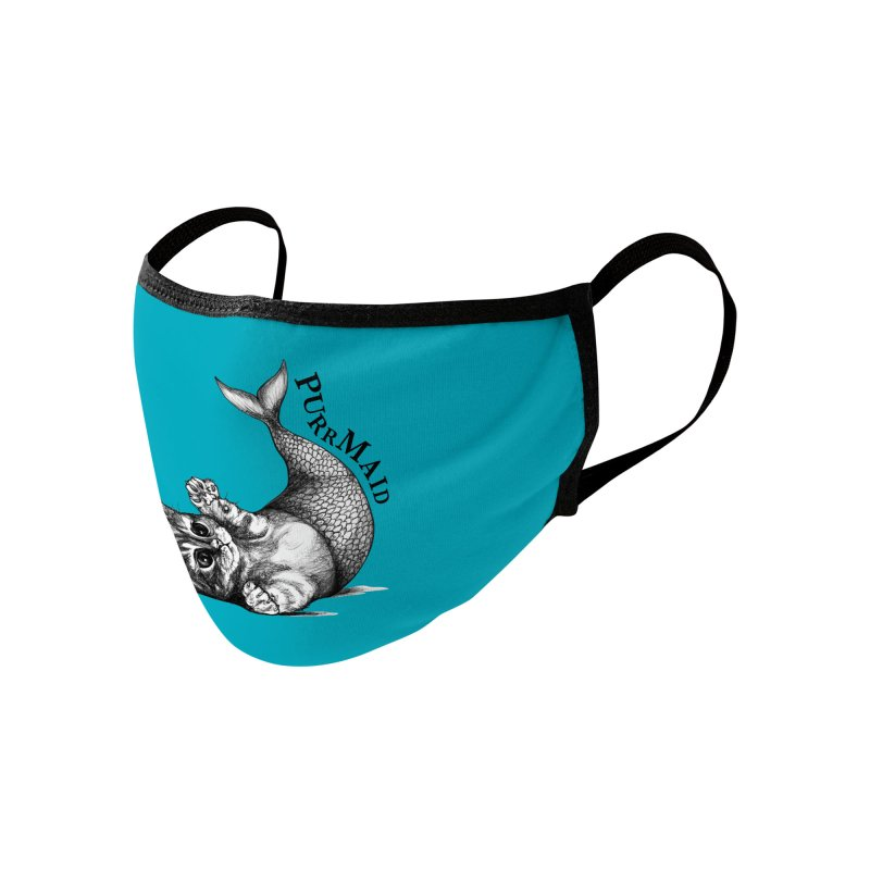 Purrmaid | Cat + Mermaid Hybrid Animal Accessories Face Mask by Whatif Creations | Shop Hybrid Animals!