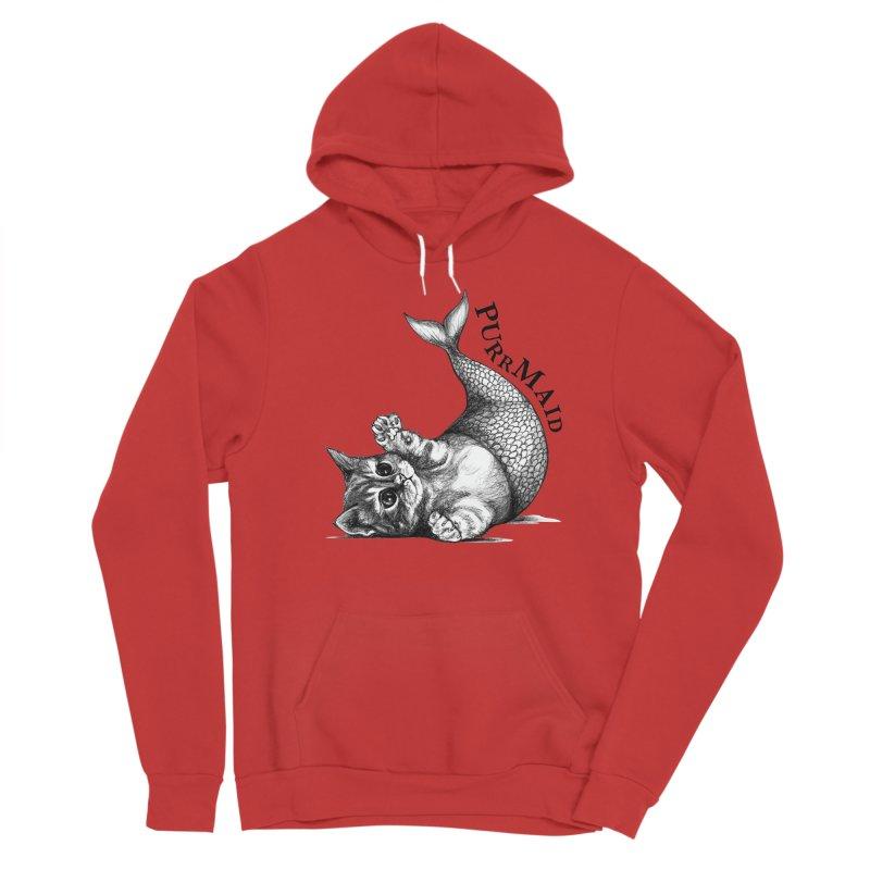 Purrmaid | Cat + Mermaid Hybrid Animal Men's Pullover Hoody by Whatif Creations | Shop Hybrid Animals!