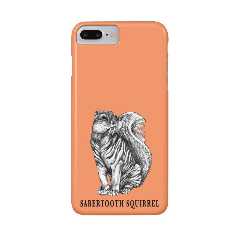 Sabertooth Squirrel | Sabertooth Tiger + Squirrel Hybrid Animal Accessories Phone Case by Whatif Creations | Shop Hybrid Animals!