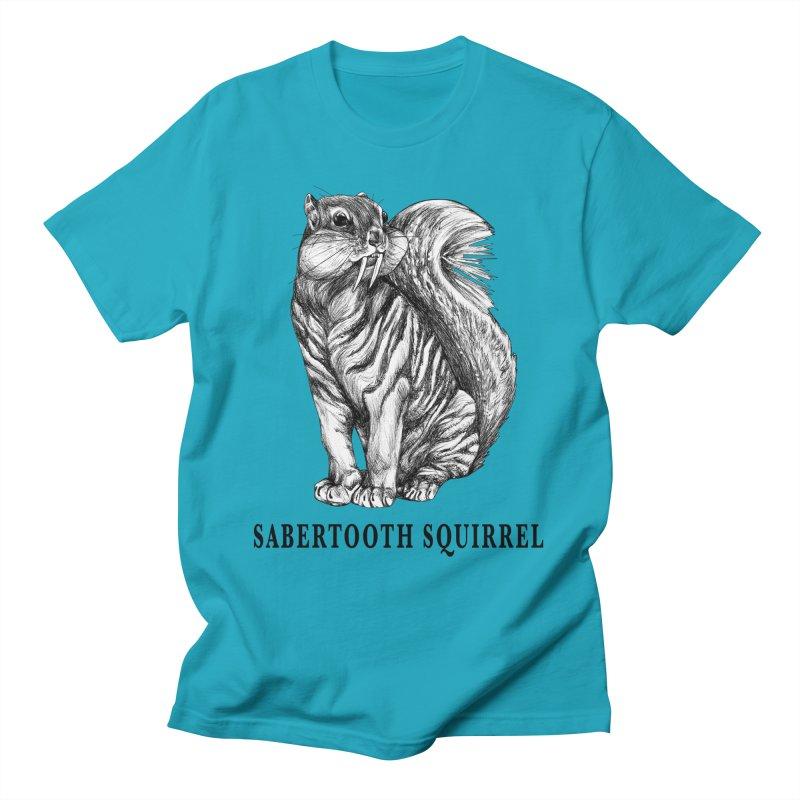 Sabertooth Squirrel | Sabertooth Tiger + Squirrel Hybrid Animal Men's T-Shirt by Whatif Creations | Shop Hybrid Animals!