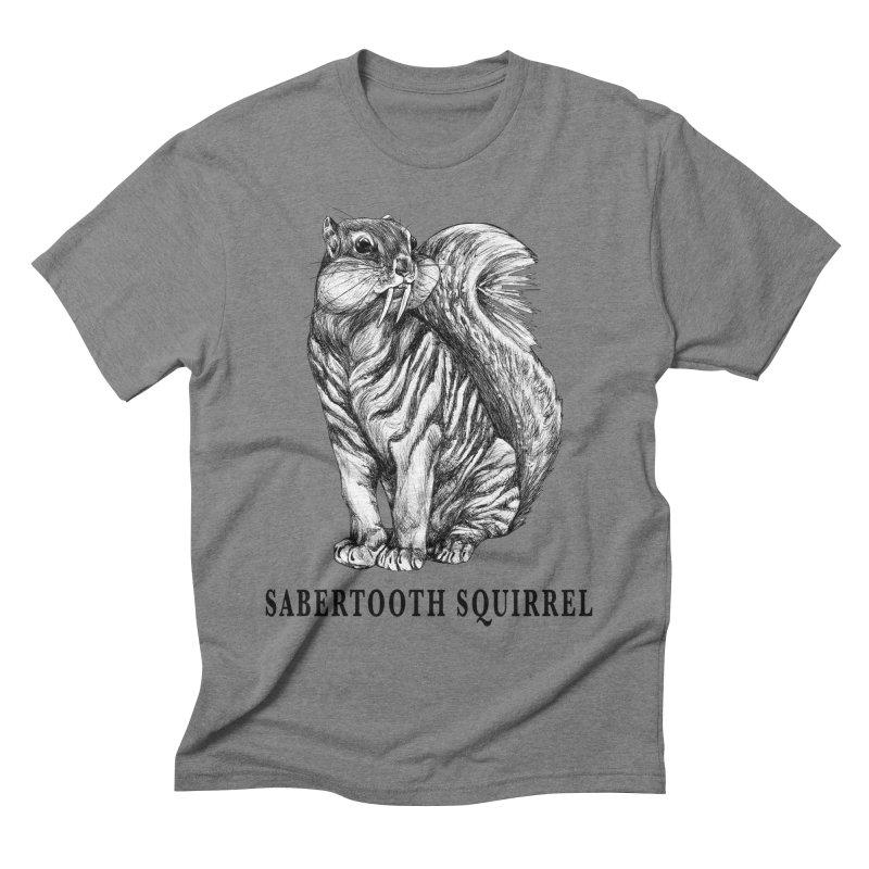 Sabertooth Squirrel   Sabertooth Tiger + Squirrel Hybrid Animal Men's T-Shirt by Whatif Creations   Shop Hybrid Animals!