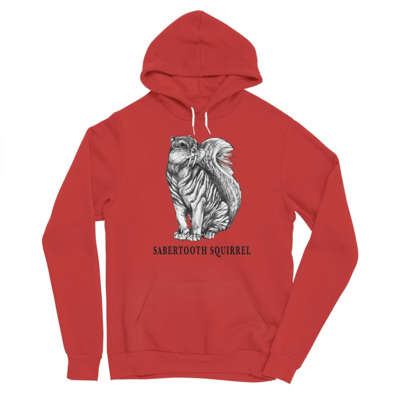 Sabertooth Squirrel | Sabertooth Tiger + Squirrel Hybrid Animal Men's Pullover Hoody by Whatif Creations | Shop Hybrid Animals!