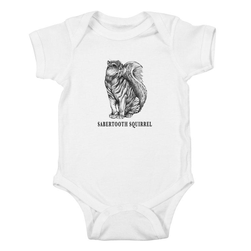 Sabertooth Squirrel | Sabertooth Tiger + Squirrel Hybrid Animal Kids Baby Bodysuit by Whatif Creations | Shop Hybrid Animals!