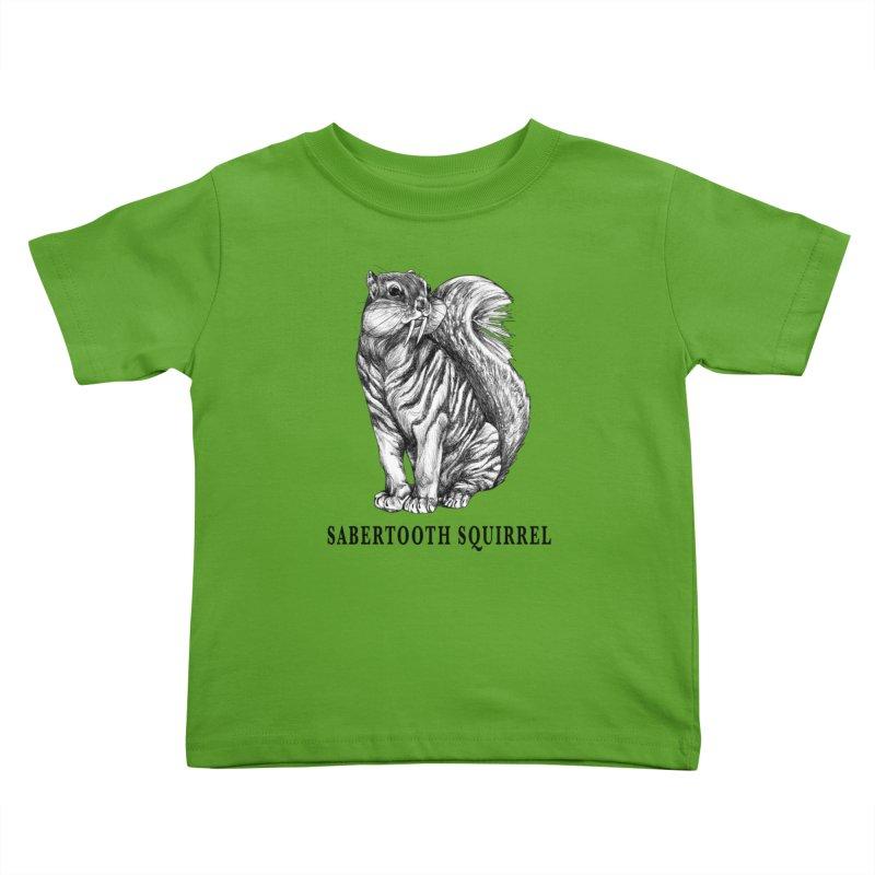 Sabertooth Squirrel | Sabertooth Tiger + Squirrel Hybrid Animal Kids Toddler T-Shirt by Whatif Creations | Shop Hybrid Animals!